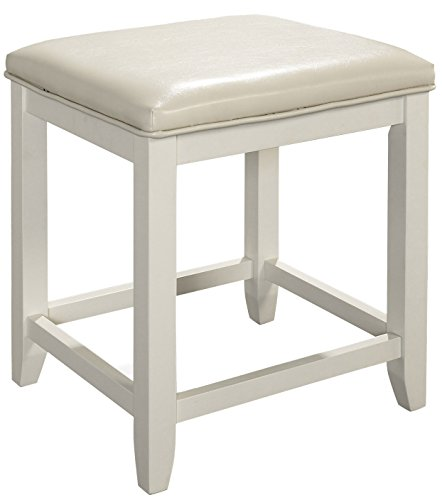 Crosley Furniture CF7007-WH Vista Vanity Stool - White by Crosley Furniture