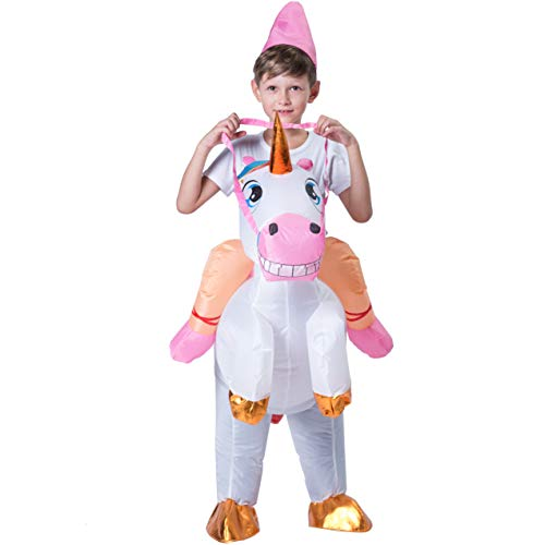 Spooktacular Creations Inflatable Riding a Unicorn Air Blow-up Deluxe Costume - Child One Size Fits 4-8yr (40''-52'' Height) by Spooktacular Creations (Image #3)