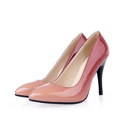 BalaMasa da donna colori assortiti in tessuto pelle verniciata pumps-shoes, Rosso (Red), 35 EU