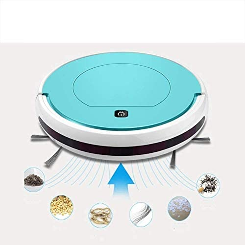 Robot de Balayage Ultra-Mince Lazy Intelligent Aspirateur Accueil Automatique à Vide Mopping Un clic Nettoyage, (Bleu, 29 * 7.5cm)