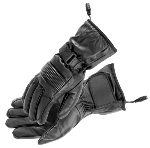 Firstgear Street Bike - FirstGear Rider Men's Warm and Safe Heated Street Bike Racing Motorcycle Gloves - Black / Small