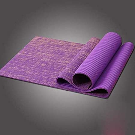 HLM- Mat Natural de Yute Yoga, 68.9inches Extra largas ...
