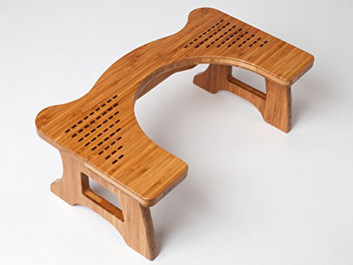 A Amp A Wood Step Toilet Stool Bamboo Toilet Chair
