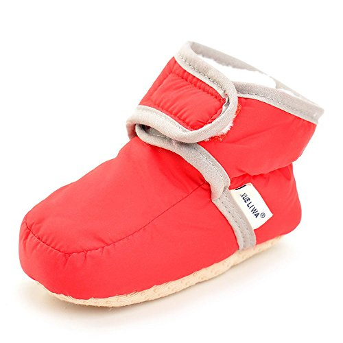 Pictures of Enteer Infant Waterproof Snow Boots Premium Soft 1