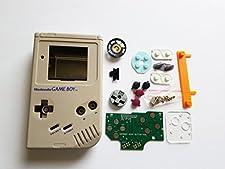 Atomic Market Grey Starter Kit Gameboy Zero DMG-01 4 Button PCB DIY W/Case Speaker & Buttons by