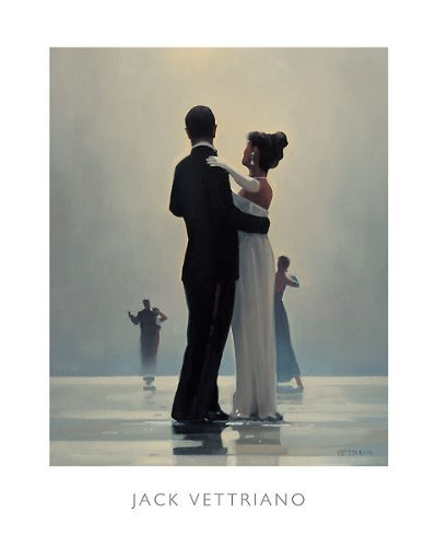 Dance Me To The End Of Love Jack Vettriano Art Print Poster, Overall Size: 15.75x19.75, Image Size: 14.5x17