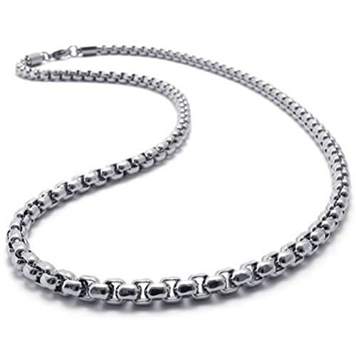 3mm Silver Rolo Chain (Dancing Stone Mens Jewelry 2mm-5mm 16