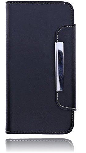 """Burkley Premium Folio Book Case Tasche für das Apple iPhone 6 (4.7"""") Etui Wallet Flip Cover Schutzhülle mit EC-/ Kreditkartenfach und festem Magnetverschluss in schwarz/ black - bi-color"""