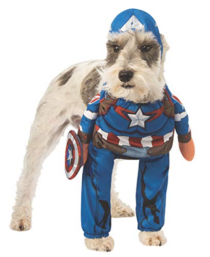 Rubie's Marvel Walking Captain America Pet Costume, X-Large]()