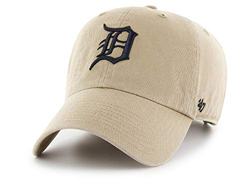 ('47 MLB Khaki Clean Up Adjustable Hat, Adult (Detroit Tigers))