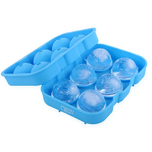 CRIUS ICE BALL MOLD - 6 Spherical Cavity Silicone Ice Ball Maker Mold - Ice Cube Tray - Flexible Silicone For Food Contact - BPA Free (Spherical Ice Cube Maker compare prices)
