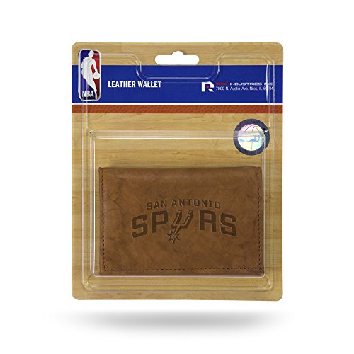 Rico Industries NBA San Antonio Spurs Leather Trifold Wallet with Man Made Interior ()