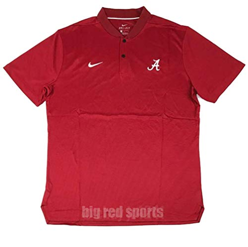 Nike Mens Crimson Tide Alabama Dry Short Sleeve Polo Elite Crimson/White Size Large