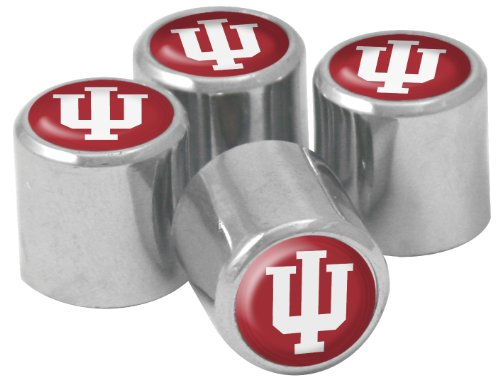 Hoosiers Indiana Metal (NCAA Indiana Hoosiers Metal Tire Valve Stem Caps, 4-Pack)