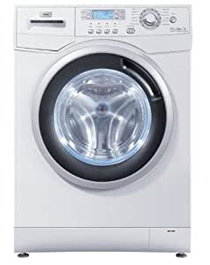 Haier HWD80-1482 lavadora - Lavadora-secadora (Frente, Independiente, Color blanco, 5 kg, 1400 RPM, A)