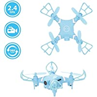 Leewa@ YD A15 2.4GHz 6 Axis Gyro Mini RC Quadcopter WIFI 0.3MP HD Camera Drone with Light/360-Degree Flip/Headless Mode
