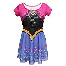 Mighty Fine Womens I Am Anna Frozen Skater Dress
