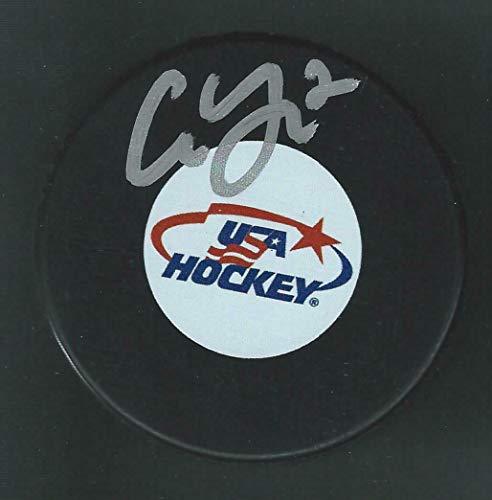 Cam York Signed Team USA Hockey Puck Philadelphia Flyers - Autographed Olympic Pucks