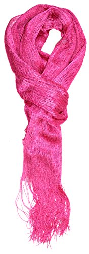 Ted and Jack - Saturday Night Sparkle Knit Shimmer Scarf (Pink)