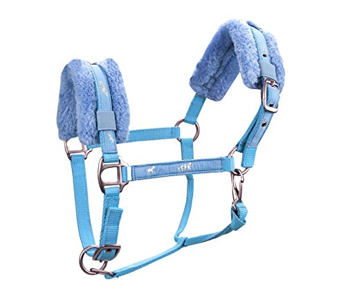 - Derby Originals Padded Comfort Nylon Fleece Suckling Horse Halter, Baby Blue