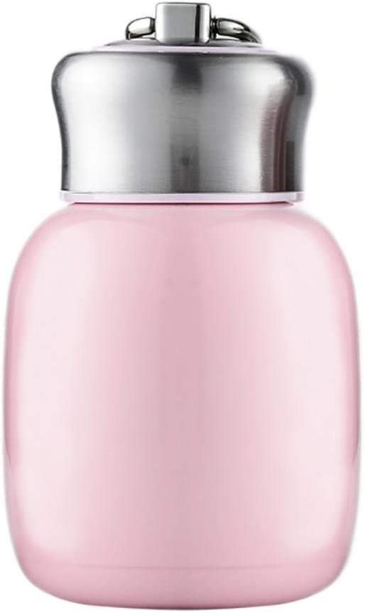Mini 7 oz Stainless Steel Water Bottle, Small Vacuum Insulated Water Bottle Leak Proof Sport Tumbler Cup Hot and Cold Water Bottle for Women Girls Kids Gift Milk Tea Lunch (Peach pink)