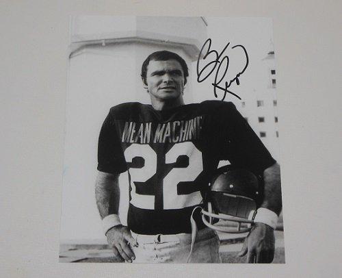 The Longest Yard Burt Reynolds Signed Autographed B/W 8x10 Glossy Photo Loa