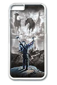 iPhone 6 Case, iPhone 6 Cases -Summoning the Storm Native American Custom PC Hard Case Cover for iPhone 6 Transparent