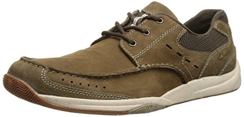 Clarks Men's Allston Edge Olive Lace-Up Shoe - 7 D(M) US - Edge Olive