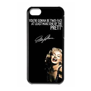 Custom Cover Case with Hard Shell Protection for Iphone 5C case with Marilyn Monroe Quote lxa#902779