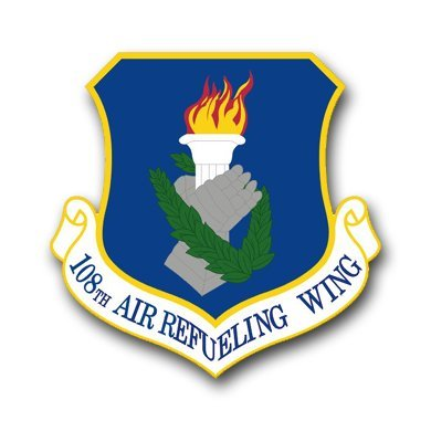 - MAGNET US Air Force 108th Air Refueling Wing Decal Magnetic Sticker 3.8