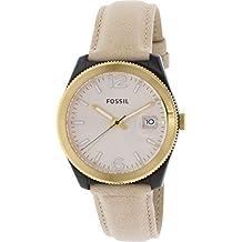 Fossil Women's Perfect Boyfriend ES3777 Beige Leather Quartz Watch