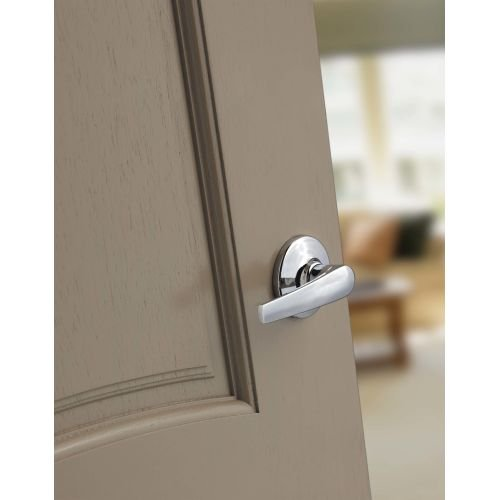 Kwikset Delta Hall/Closet Lever in Polished Brass Photo #2