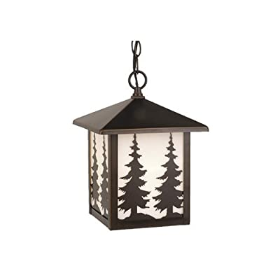 Vaxcel Lighting OD33486 Yosemite 1 Light Square Tree Outdoor Pendant,