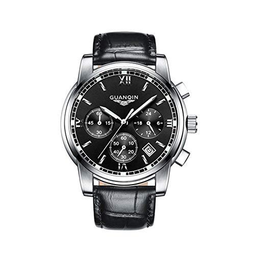 - Mens Watches, Waterproof Chronograph Sports Analog Quartz Watch Gents Black Dial Fashion Casual Luxury Wrist Watch