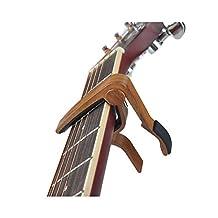 Kyson Wood Grain Guitar Capo for 6-String Acoustic and Electric Guitars, Banjo/Ukulele/Bass/Mandolin Quick Change Capo