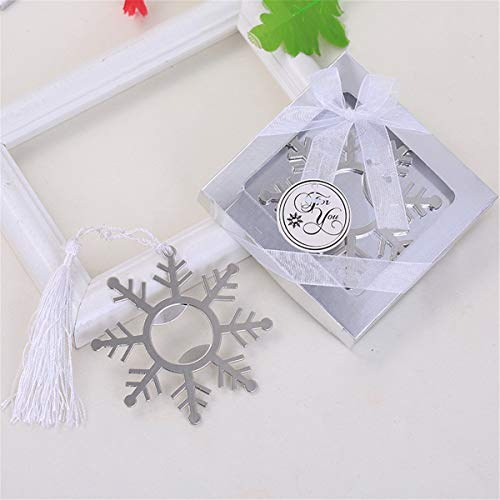 (Yansanido 12pcs Snowflake Bottle Openers Baby Shower Return Gifts Wedding Favors for Guests Party Favors (12pcs Snowflake Silver))