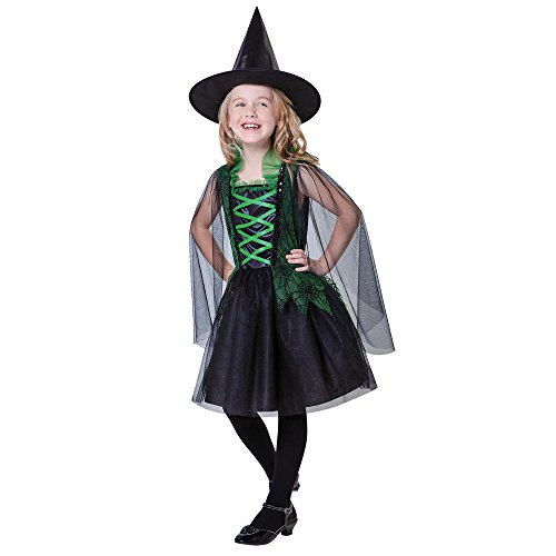 TotallyGhoul Wicked Spider Witch Costume, Girl's size Large
