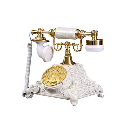 Shelfon Landline Fixed Telephone - Retro Resin Landline, Stylish and Creative Home-Style Rotary Dialing Phone (Color : B)