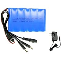 copusa Power Supply 12V 4.5A Li-Ion Rechargeable Battery Pack With Charger, Blue  (12VPK4.5A)