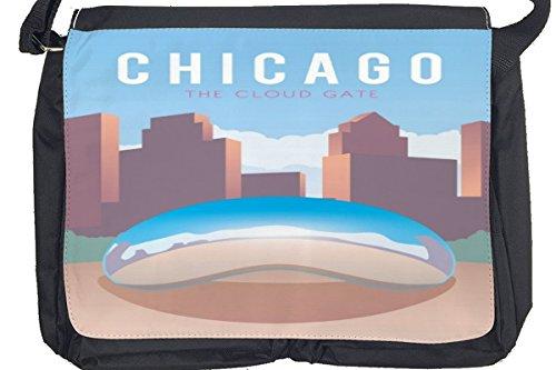 Borsa Tracolla Città Chicago USA Stampato