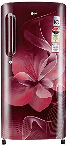 LG 190 L 4 Star Direct-Cool Single Door Refrigerator (GL-B201ASDX.ASDZEBN, Scarlet Dazzle)_LA