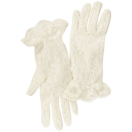 Girls Lace Wrist-Length Gloves Style KIRA, Ivory, P from David's Bridal