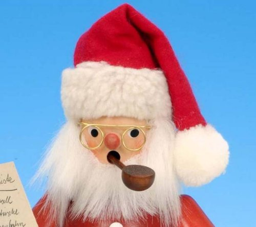 Smoker Santa Claus with Wishlist - 26cm / 10 inch - Christian Ulbricht