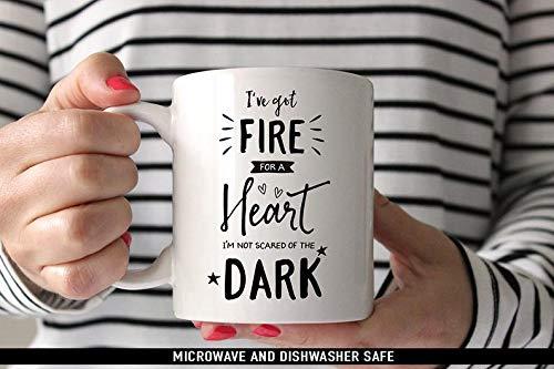 Cute Mug, Coffee Mug Drag Me Down Coffee Mug - I've Got Fire For a Heart Im Not Scared of the Dark - One Direction