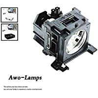 AWO DT00751 Premium Replacement Bulb/Lamp with Housing for HITACHI CP-X260 CP-X265 CP-X267 CP-X268 CP-X268A PJ-658 Projectors