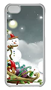 Customized Case Christmas Playground PC Transparent for Apple iPhone 5C