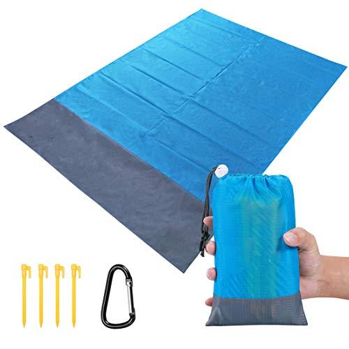 TOBION Sand Free Beach Blanket,Portable Lightweight Beach mat 79