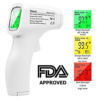 Thermometers, Medical Infrared Thermometer, Fever Alarm, 3-Color LCD Display, Digital Thermometer for Baby