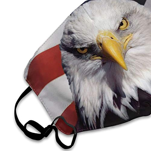 American Flag Eagle Mouth Mask Breathable & Comfortable Face Mask Dustproof Anti Pollution Mouth Cover Mask Military Grade Filter Safety Masks For Home Outdoor Office