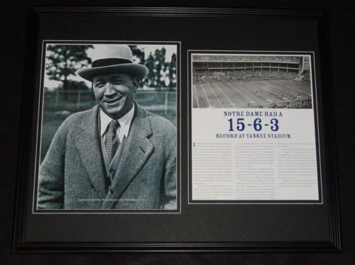 Knute Rockne Framed 16x20 Notre Dame at Yankee Stadium Photo Display